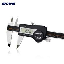 SHAHE закаленная нержавеющая сталь 0-150 мм Цифровой суппорт messchieber Электронный штангенциркуль микрометр