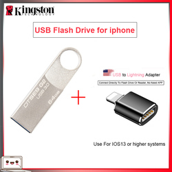 Original Kingston【USB Flash Drives】16gb 32gb 64gb Pen Drive 128gb Pendrive with USB to Lightning Adapter【for iphone 11 10/ ipad】
