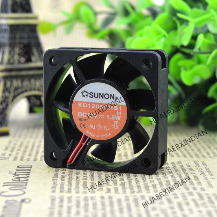 Original NEW 5CM 12V 1.5W KD1205PHB1 5015 Motor Protection Cooling Fan