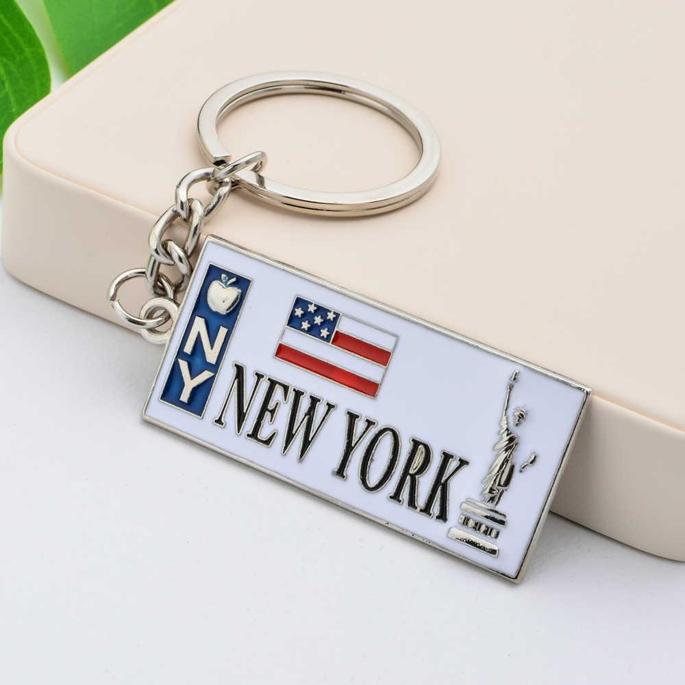 Llavero Vicney Nueva York aleación de Zinc bandera estadounidense llavero para hombres estatua de la libertad llavero para llave de alta calidad llavero