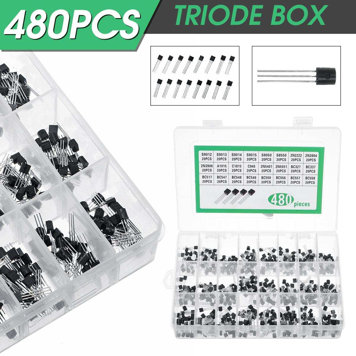 Transistor Assortment-Kit Active-Components Silicon Pack 24-Types 480pcs Supplies Npn/pnp