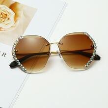 Квадратные Солнцезащитные очки без оправы новые роскошные брендовые