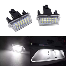 1 Pair Reliable Easy Install Car Assembly License Plate Lights Waterproof Lamp PC 18 LED Durable for Toyota Camry 2013