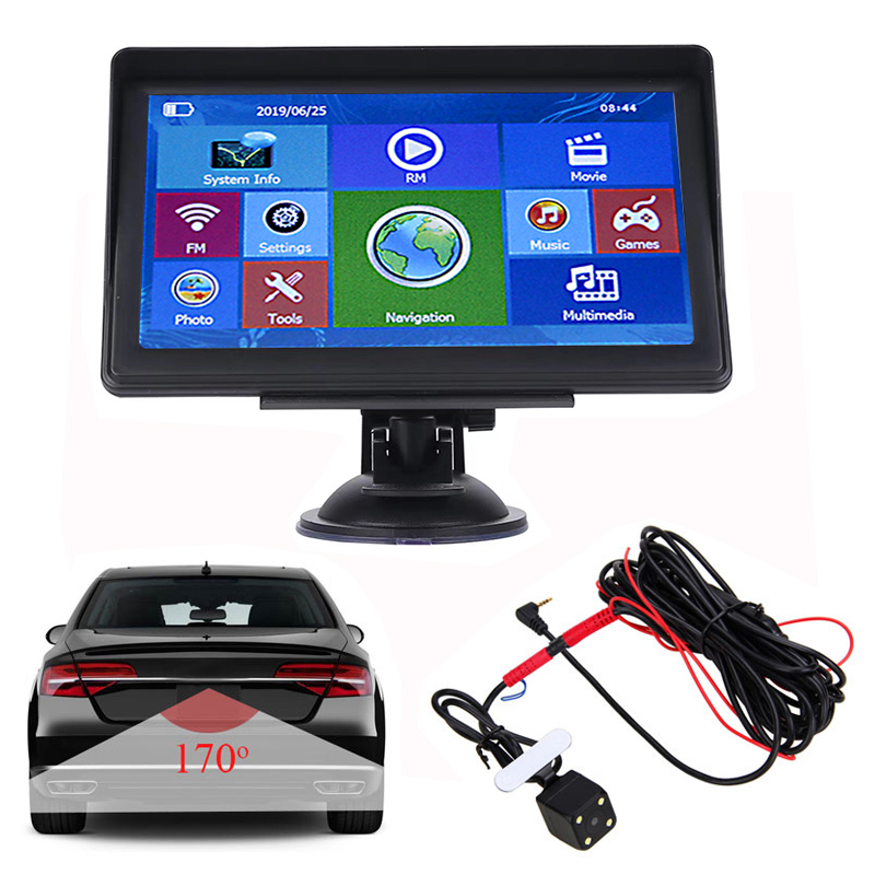 7 Inch Car GPS Navigator Free Map 256MB+8G 3D View Navigation MP3/MP4 Player For Ambulance Truck RV Transporter