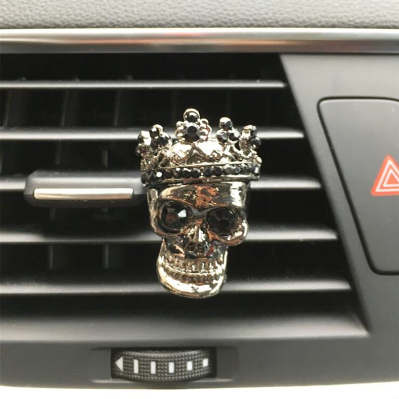 Cool Skull Car Decoration Flavoring In Car Aroma Diffuser Air Vent Perfume Clips Car Fragrances Smell Scent Car Accessories Auto