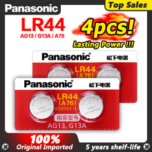 Panasonic 4 pezzi 1.5V zinco AG13 LR 44 LR44 bottone a bottone orologio a bottone orologio puntatore Laser scala batterie GP76 GPA76 L1154 SR44 SR44W