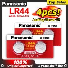 Panasonic 4pcs 1,5 V Zink AG13 LR 44 LR44 Taste Münze Zellen Uhr Uhr Laser Pointer Skala Batterien GP76 GPA76 L1154 SR44 SR44W