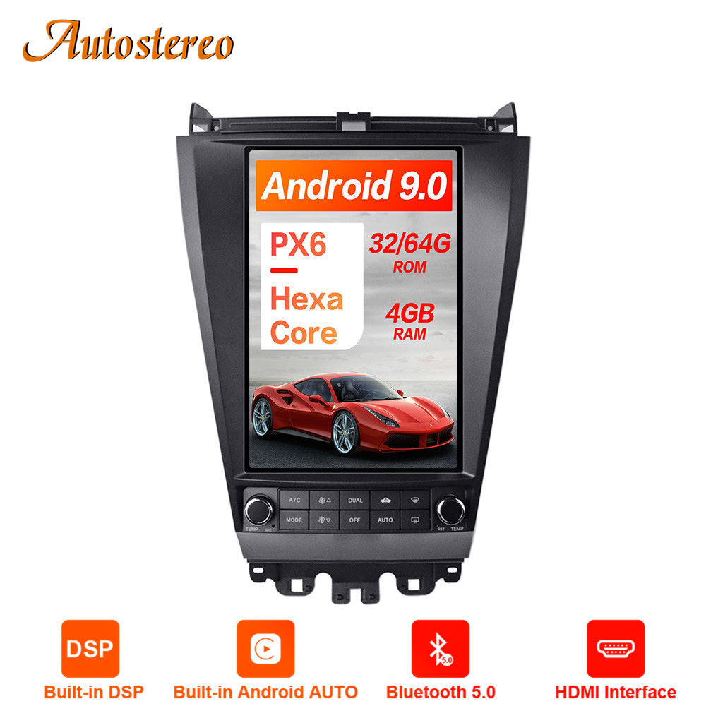 Tesla Style <font><b>Android</b></font> 9.0 4+64GB <font><b>Car</b></font> <font><b>Audio</b></font> GPS Navigation For Honda Accord 7 2003-2007 <font><b>Car</b></font> Head Unit Multimedia Player Auto Radio image