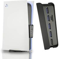 Splitter Expander Hub mit 5 USB A + 1 USB C Ports für PlayStation 5 Digitale Edition Konsole Für PS5 USB Hub