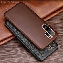 Housse dorigine XOOMZ pour Huawei P30 Pro étui en cuir véritable de luxe pour Huawei P30/ P20/ Pro coque arrière en métal