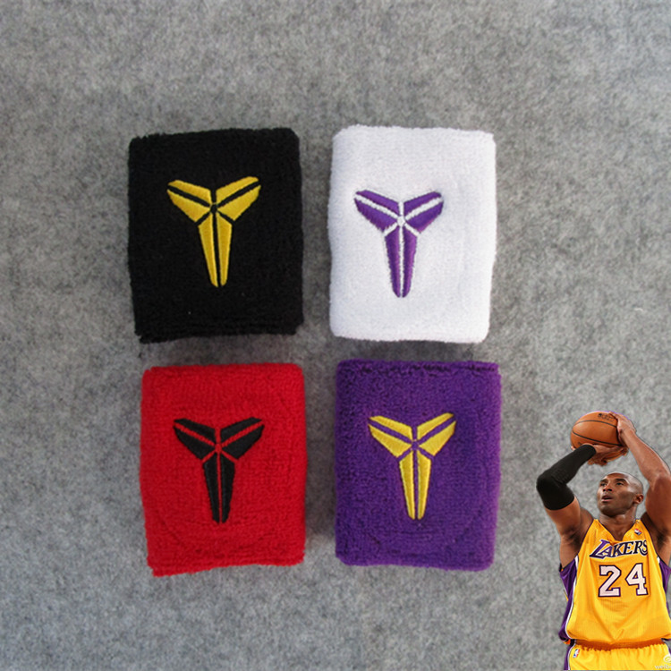 Kobe Bryant Wrist Band Basketball Kobe Bryant Wrist Protector Wristband Mamba Out Cotton Wristbands Sport Sweatband Hand Band