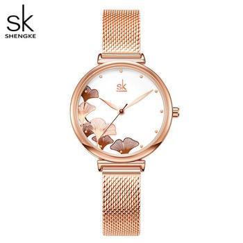 Shengke Luxury Brand Women Watch