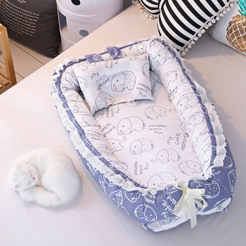 Portable Crib Baby Nest Bed Folding Newborns Bed Travel Cot Nursery Sleep Nest with Pillow Infant Cradle Baby Bassinet Bed Carry portable baby crib nursery travel folding baby bed bag infant toddler cradle multifunction baby play bed baby nest 8865