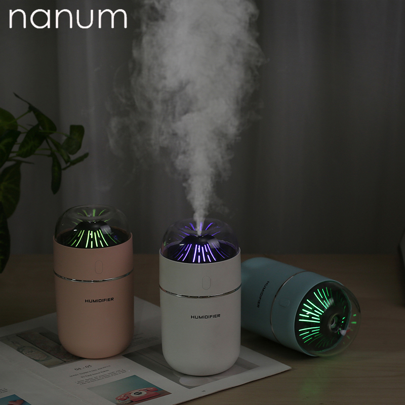 Small Volcano Humidifier Mini Ultrasonic Humidifiers Led Night Light Aroma Essential Oil Diffuser USB Fogger Car Air Freshener
