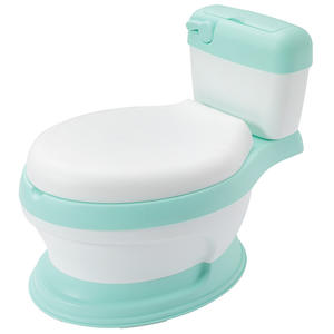 Potty with Cushioned Seat-Ring Baby Extra Large Toilet Comfortable Backrest Cartoon Cute