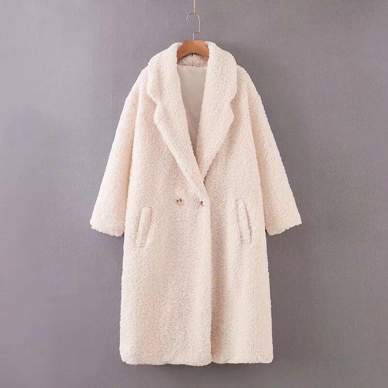 2019 Zaraing Autumn New European And American Women's Long-sleeved Windbreaker Jacket Solid Color Plush