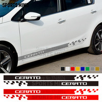 1 Pair Vinyl Door Side Stripe Car Stickers Decals For KIA Cerato Kia K3 Accessories Automobiles Car Styling
