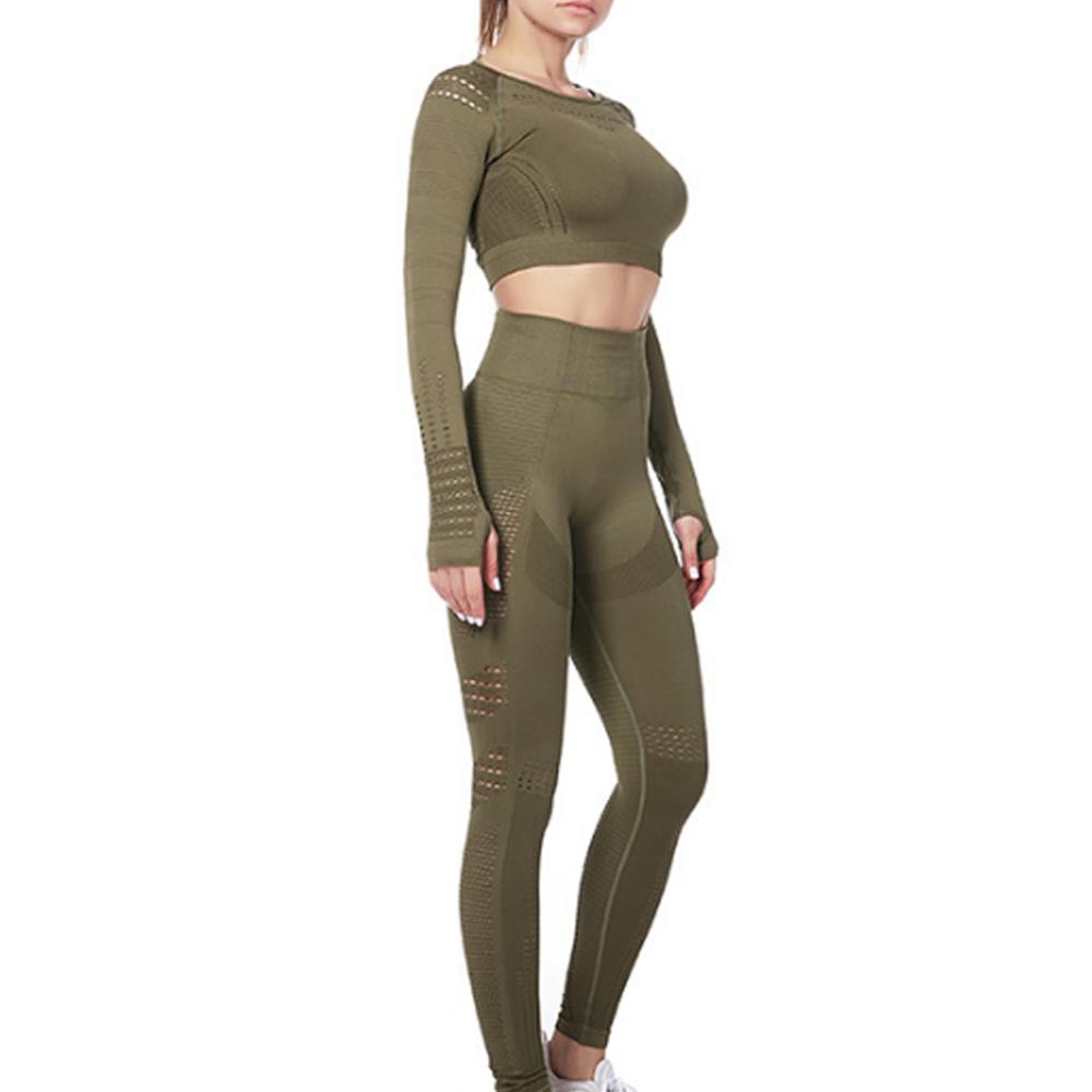 Комплект из 2 предметов для йоги женская одежда тренировок вязаный