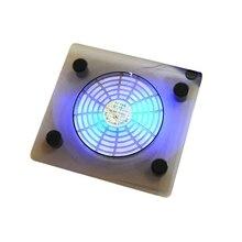 usb-вентилятор для ноутбука синяя светодиодная подсветка радиатора подставка для портативного компьютера охлаждающая подставка для компьютера кронштейн рассеивания тепла случайный цвет