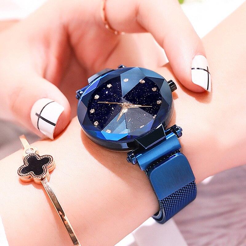 Modern Fashion Women Stainless Steel Belt Quartz Watches Montre Femme Horloge Lady Clock Beauty Wrist Watch Reloj Mujer Relojes