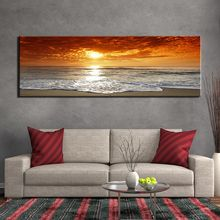 Modular HD Sunsets Natural Sea Beach Landscape printed canvas painting poster wall pictures for living room posters and prints