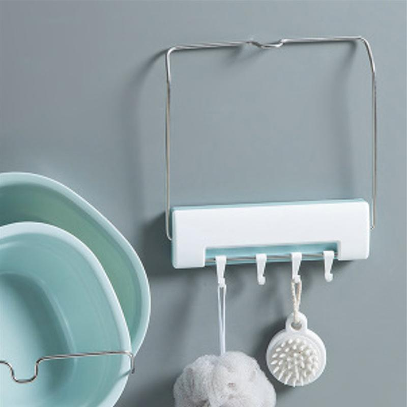 Wall Mount Kitchen Rack Multifunctional Hanging Hook Storage Holder for Kitchen Bathroom