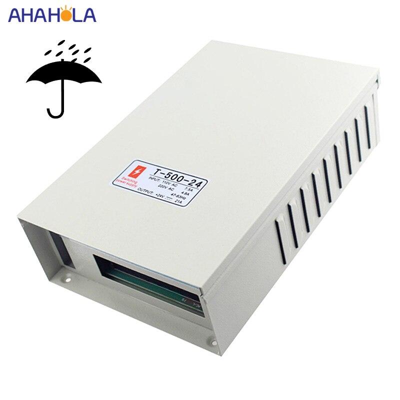 Alimentation à découpage étanche à la pluie 24 v 20a 500w Smps transformateur Led pilote AC 220v à DC 24 v alimentation 24 volts pour bande Led