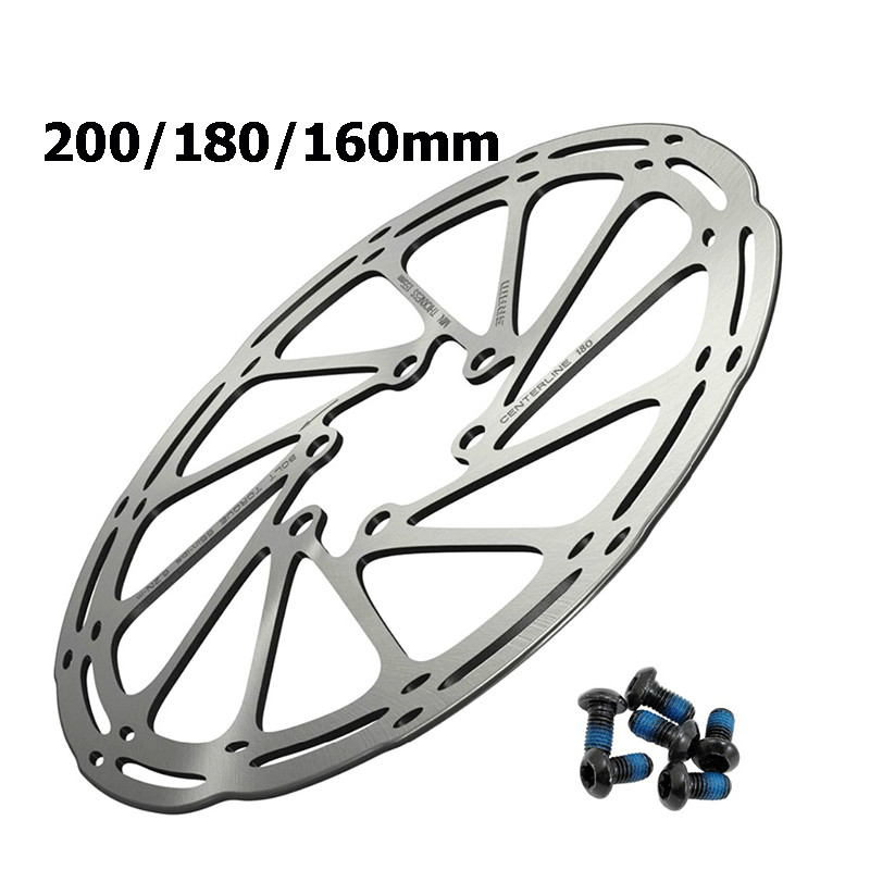 SRAM CenterLine 2-Piece 180mm 6-bolt Rounded Edge Rotor with 6 Steel Rotor Bolts