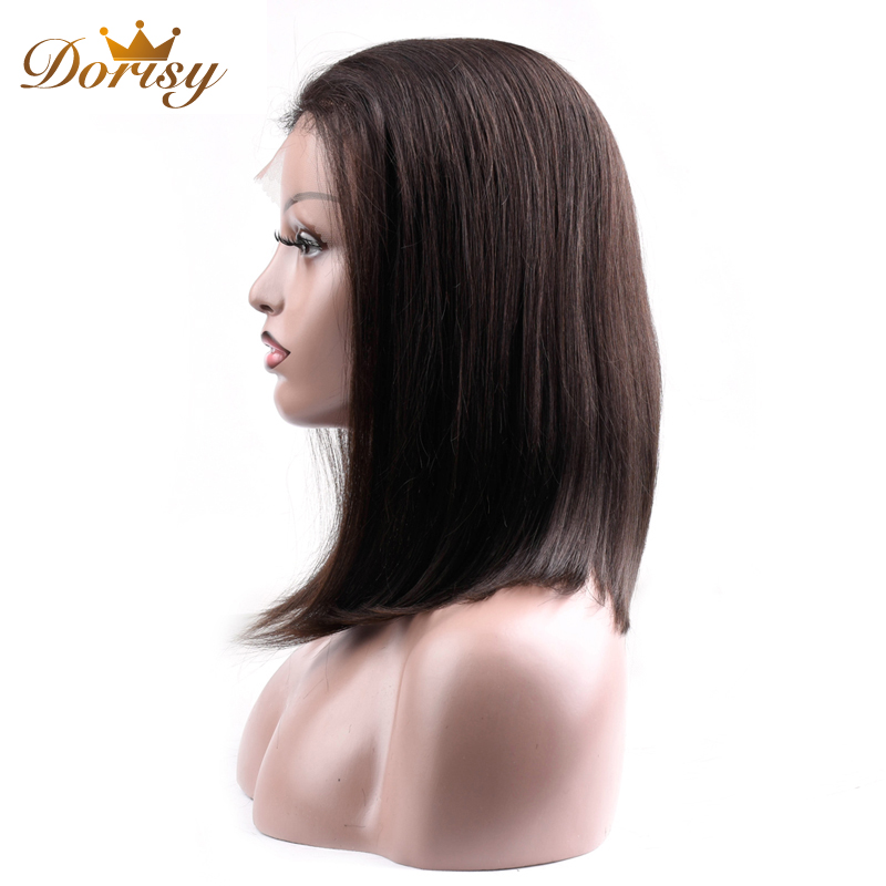 Image 5 - Human Hair Wigs 13×2 Lace Short Bob Wig Brazilian Straight Hair Natural Color 2# 4# Lace Wig For Black Women Non Remy Hair-in Lace Front Wigs from Hair Extensions & Wigs