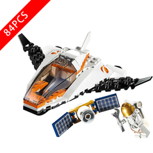 New City Series Toys Satellite Service Mission Compatible Lepinzk City 60224 Building Blocks Toys for Children Birthday Gift 2020 new city police station bela compatible lepining city 60141 60047 60140 building blocks toys for children birthday gift