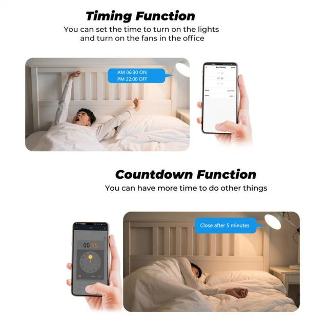 Tuya MINI Wifi Smart Switch 16A 2-way Control Timer Wireless Switches Smart Life Automation Compatible With Alexa Google Home 5