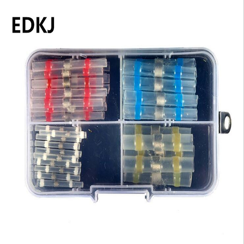 50pcs Heat Shrink SST Solder Sleeves Waterproof Wire Fast Butt Terminal Quick Terminator Electrical Connector