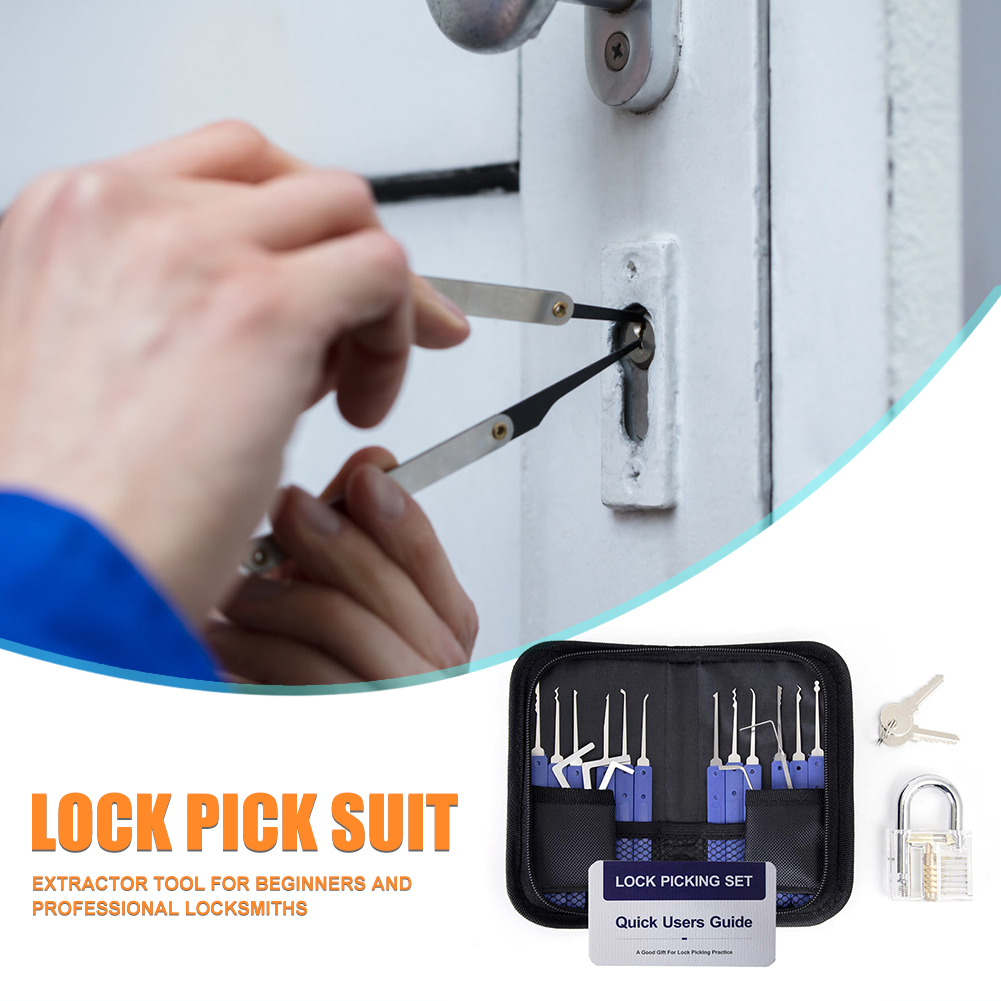 Wrench Tool Removing Hooks Hardware Lock Pick Set Visible Padlock Broken Key Extractor Locksmith Supplies Hand Tools