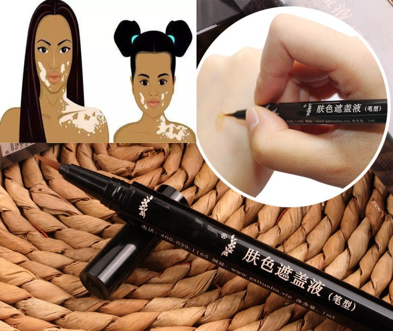 Professional Tattoo Concealer Vitiligo Scars Birthmarks Cover Plant Essence Skin Cover Pen