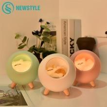 Luz LED para gatos con luz táctil USB, lámpara de noche para dormitorio, Decoración, regalo de vacaciones