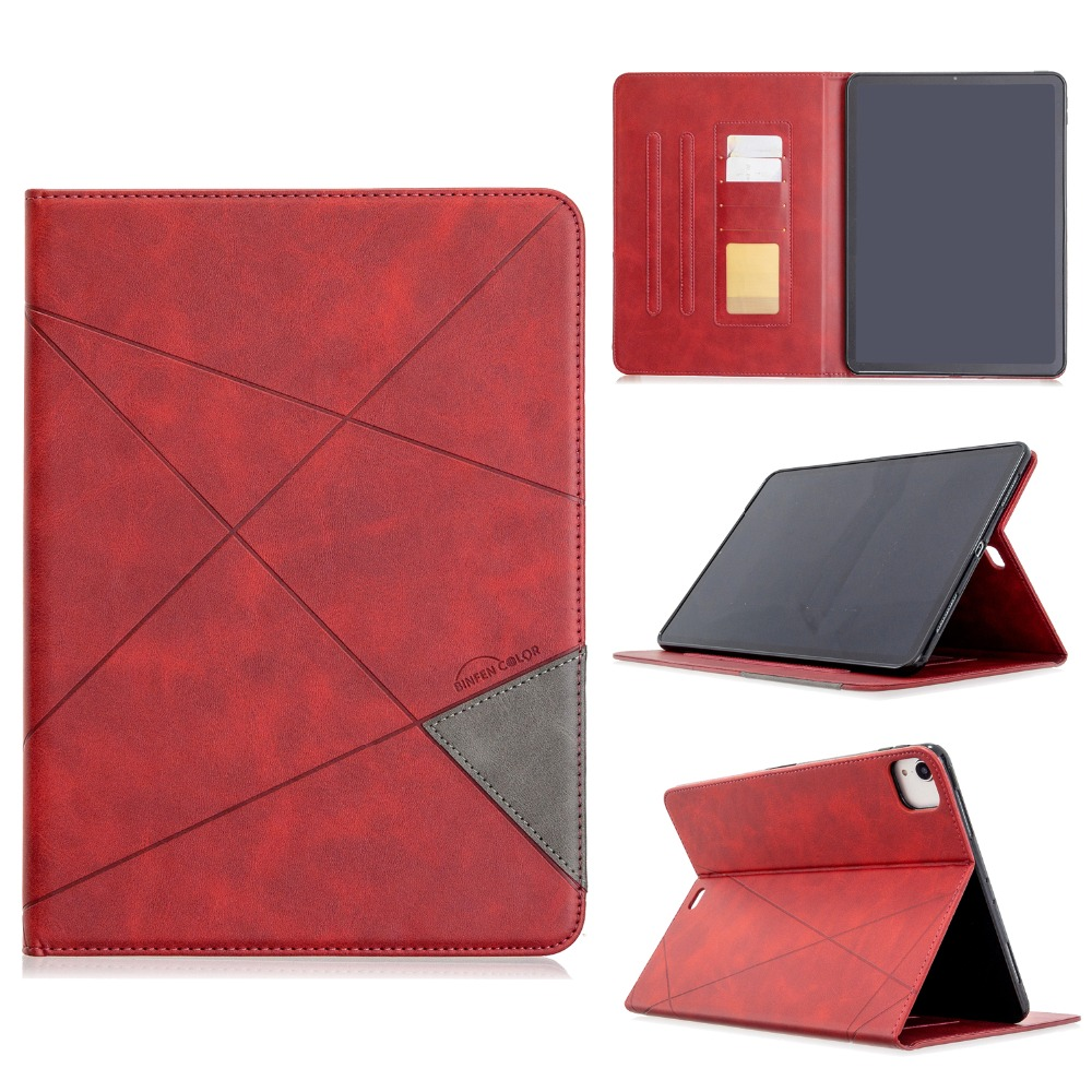 PU Back 12.9 Wallet Holder Cover iPad With 2020 For Leather Silicone Soft Pro 2018 Case