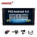 MEKEDE 9 zoll 4G RAM Android 9,0 DSP Auto DVD Player für Porsche Cayenne 2003-2013 mit Radio wifi GPS DVR großen bildschirm