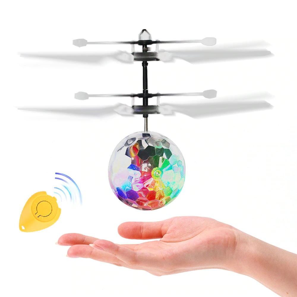 Luminous Light-up Toys Glowing LED Magic Flying Ball Sensing Crystal Flying Ball Helicopter Induction Aircraft Toys
