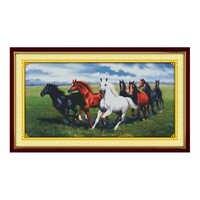 Alegría Domingo estampado Kits punto de cruz bordado costura de tela Aida caballo patrones estampado de DMC de 14ct mano DIY artesanía