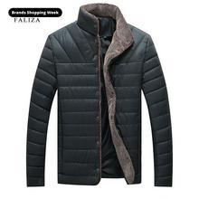 FALIZA Men Parka Coat Winter Fleece