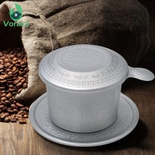 High Quality Aluminum Vietnam Coffee Dripper Filter Coffee Maker Portable Carved Refined Zhongyuan Ice Coffee Pot Filter Drip(China)
