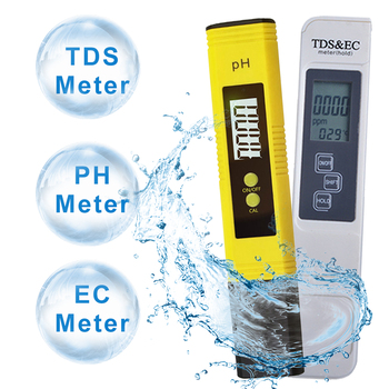 new tds ph meter ph tds ec temperature meter digital water quality monitor tester for pools drinking water aquariums PH Tester+TDS& EC Meter/ TDS-3 Meter/ PH Paper Tester Meter Measure Water Quality Purity for Drinking /Pool /Aquarium