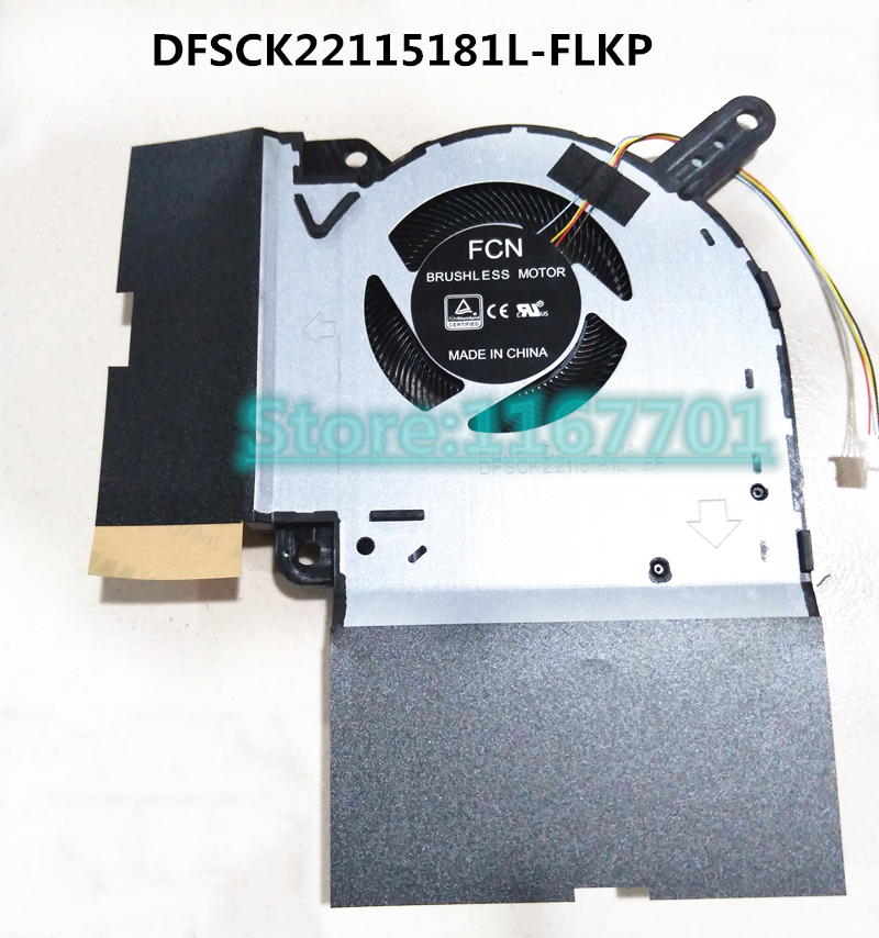 New original Laptop Notebook CPU cooling Fan for ASUS ROG Strix <font><b>G731</b></font> G731G G731GW FCN Motor DFSCK22115181L-FLKP DC12V 1A image