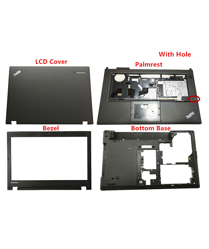 New Original For Lenovo Thinkpad L440 LCD Rear Top Lid Back Cover / Bezel /Palmrest W/Fingerprint /Bottom Base  04X4804 04X4815