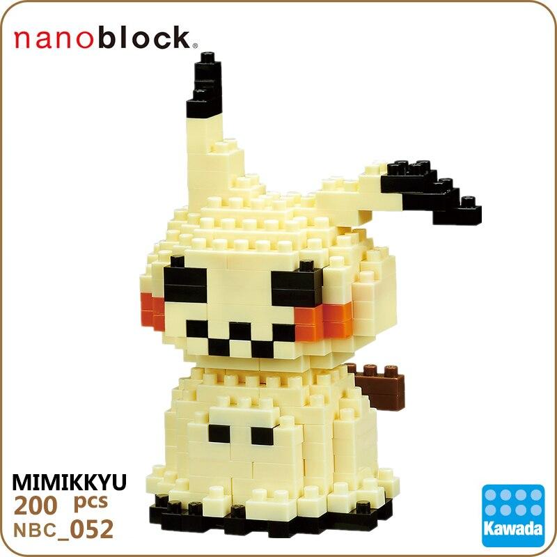 Nanoblock Pokemon Pikachu NBPM_052 MIMIKKYU  Kawada 210pcs Anime Cartoon Diamond Mini Micro Building Blocks Bricks Toys 2