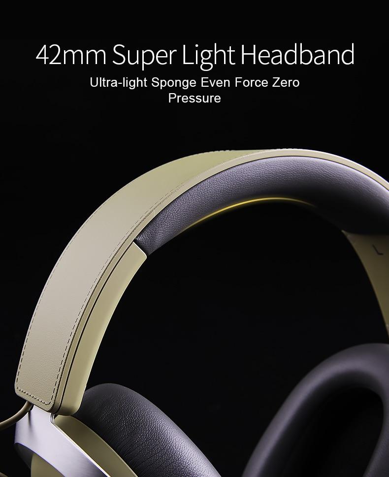 fones de ouvido estéreo com fio com