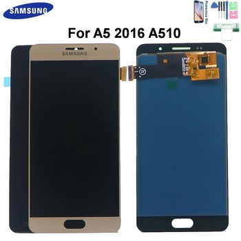 5.2'' A510 LCD Display For Samsung Galaxy A5 2016 A510 A510M SM-A510F Display Touch Screen Digitizer Assembly A510F With Frame чехол накладка with love moscow w003001sam для samsung galaxy a5 2016 a510 лев