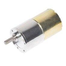 37GB330 Small DC Gear Motor 12V 24V Diameter 37mm 5-1000rpm for RC Smart Car Part Use 330 DIY Linear Actuator