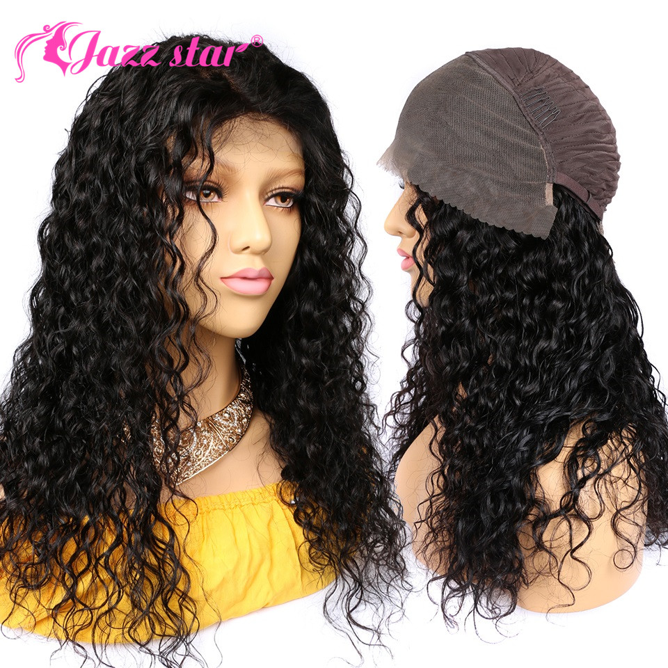 Lace Front Human Hair Wigs For Black Women Brazilian Water Wave Hair Wig Pre Plucked With Baby Hair Lace Wig Jazz Star Non Remy