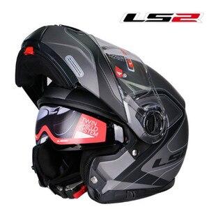 Image 4 - LS2 FF325 стробоскоп С Откидывающейся Крышкой Moto rcycle шлем для мужчин модульный гоночный шлем capacete ls2 шлем casco moto cascos para moto DOT casque moto